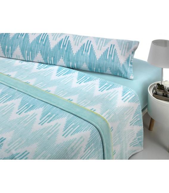 Vista Previa del Juego de Sábanas Invierno MICROCORAL G25 Azul Textils Mora