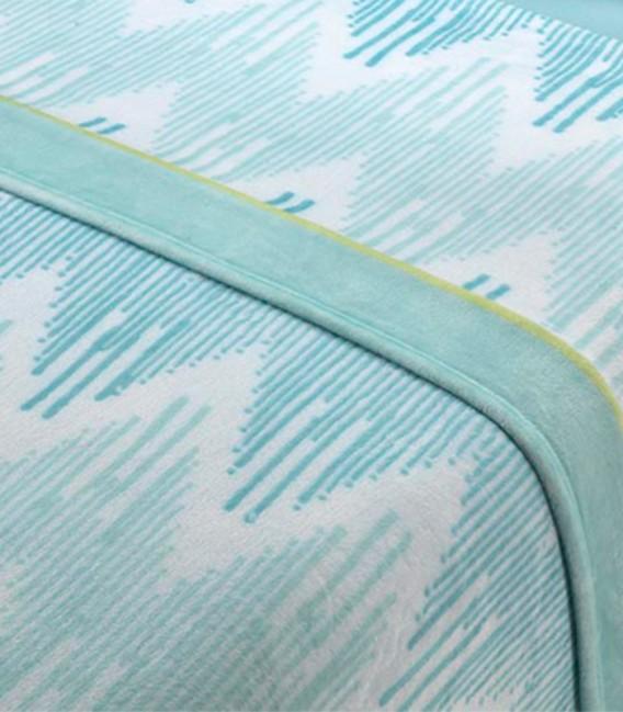 Tejido del Juego de Sábanas Invierno MICROCORAL G25 Azul Textils Mora