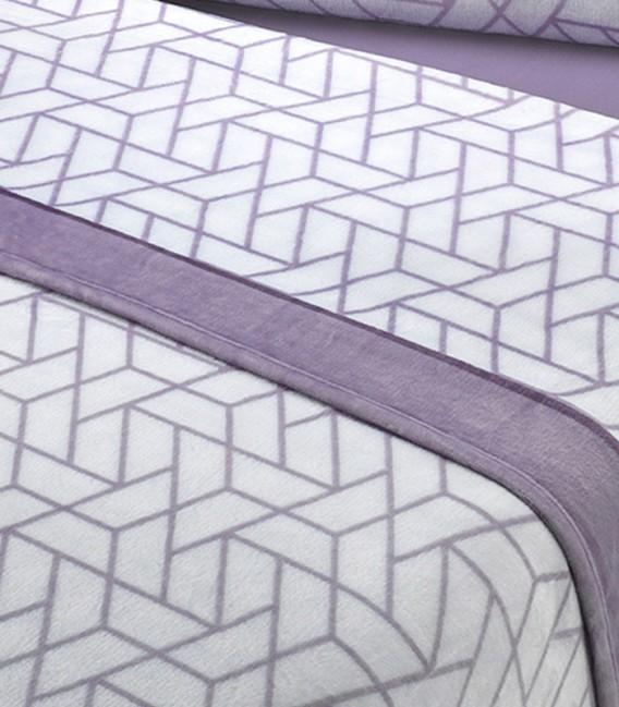 Tejido del Juego de Sábanas Invierno MICROCORAL G26 Morado Textils Mora
