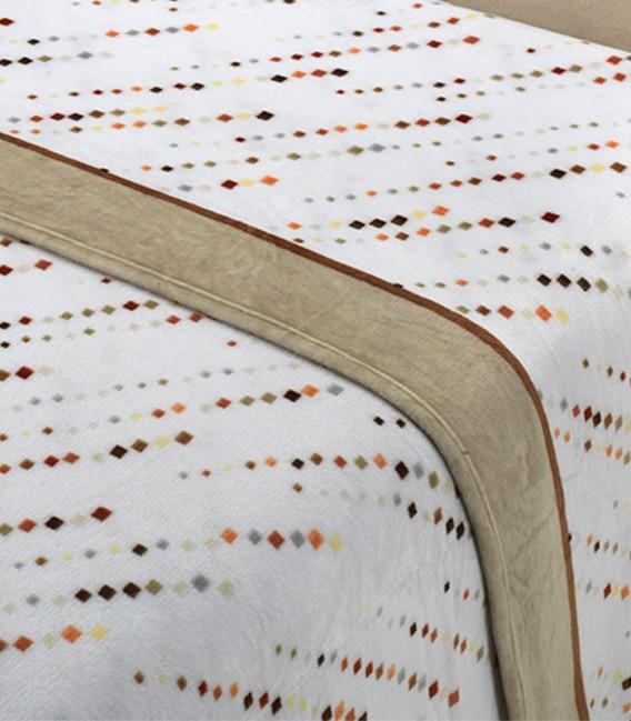 Tejido del Juego de Sábanas Invierno MICROCORAL G27 Beige Textils Mora