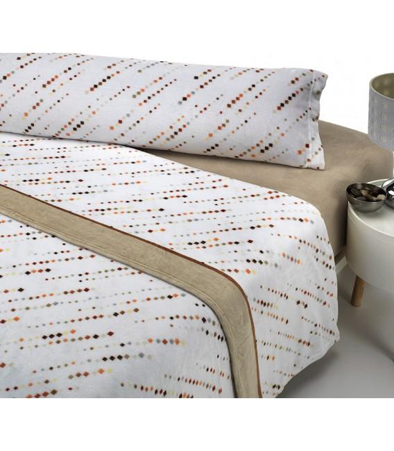 Vista Previa del Juego de Sábanas Invierno MICROCORAL G27 Beige Textils Mora