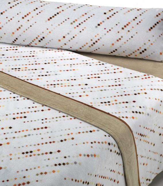 Detalle del Juego de Sábanas Invierno MICROCORAL G27 Beige Textils Mora