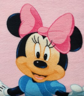 Detalle del Tejido del Juego de Sábanas de Coralina Minnie Mouse Rosa 90
