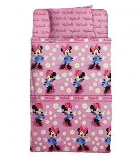 Vista Previa del Juego de Sábanas de Coralina Minnie Mouse Rosa 90