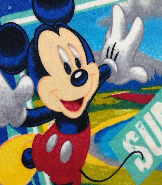 Detalle del Tejido del Juego de Sábanas Coralina Invierno MICKEY SUMMER SPORTS