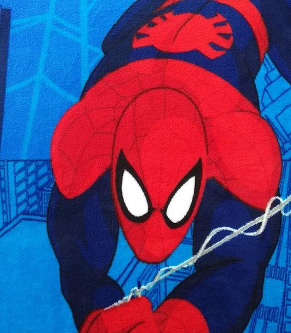 Detalle del Tejido del Juego de Sábanas de Coralina Spiderman Azul MARVEL