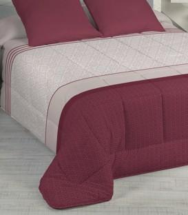 Detalle del Tejido del Edredón Nórdico Confort VIOLET Granate Karamelo Premium