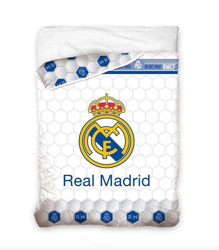 Funda Nordica Real Madrid Cama 90.Edredon Nordico Real Madrid Escudo Rm182057