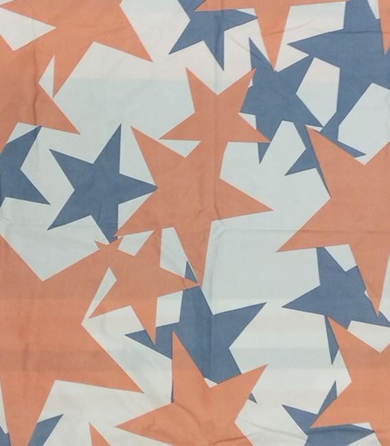 Tejido Estrellas del Edredón Conforter Reversible BONN Algodón Blanco
