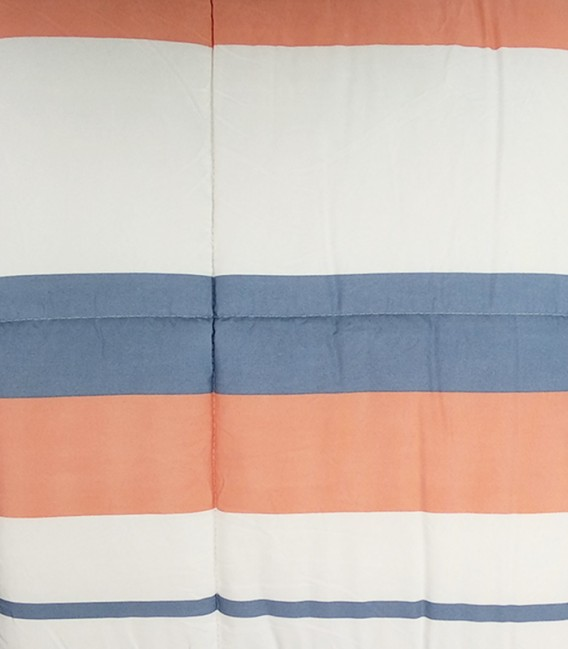 Tejido Rayas del Edredón Conforter Reversible BONN Algodón Blanco