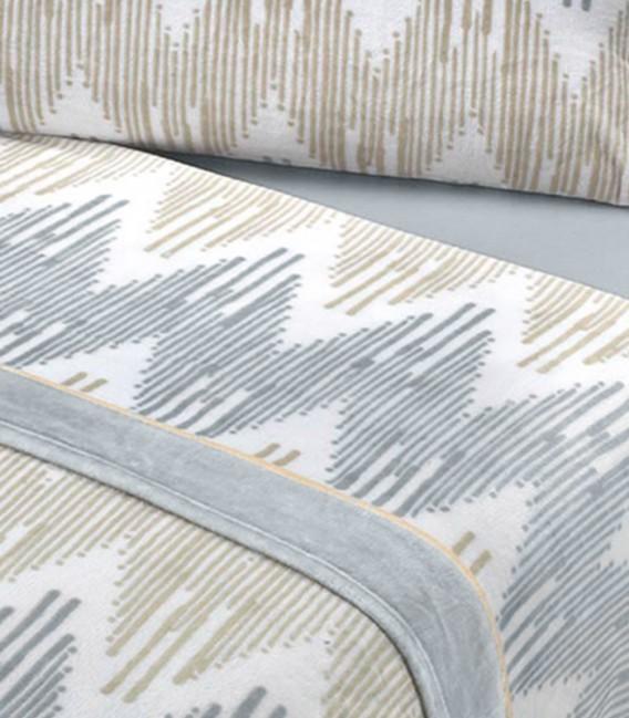 Tejido del Juego de Sábanas Invierno MICROCORAL G25 Gris Textils Mora