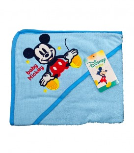 Detalle del tejido de la Capa de Baño con capucha MICKEY Azul Algodón Disney baby