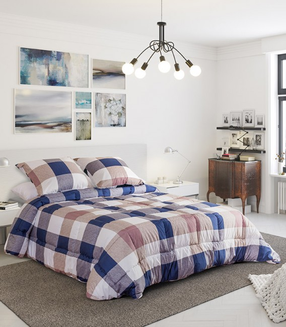 Vista Previa del Edredón Conforter Reversible BERLÍN Algodón Blanco