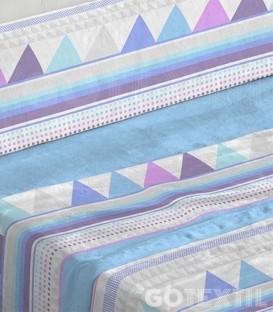 Detalle del tejido del Juego de Sábanas de Coralina 951 Azul Cama de 180 Burrito Blanco