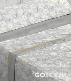 Dibujo del Juego de Sábanas Coralina 950 Gris Cama de 90 Burrito Blanco