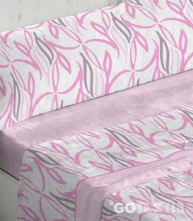 Detalle del tejido del Juego de Sábanas Coralina 949 Rosa Cama de 180 Burrito Blanco