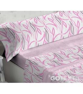 Juego de Sábanas Coralina 949 Rosa Cama de 180 Burrito Blanco