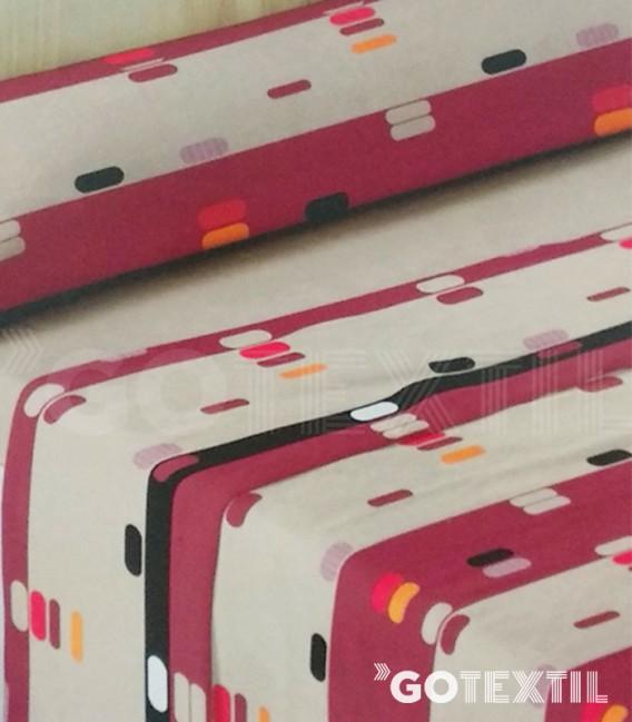 Detalle del dibujo del Juego de Sábanas Coralina Dorvel 719 Beige cama de 90. Burrito Blanco