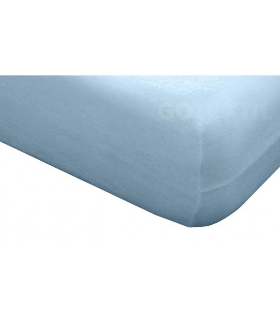 Funda de colchón Mistral azul de rizo elástico de algodón