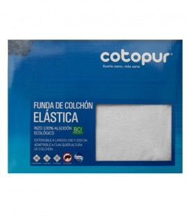 Empaquetado de la Funda de colchón Mistral blanco de rizo elástico de algodón