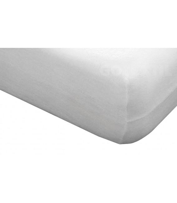 Funda de colchón Mistral blanco de rizo elástico de algodón