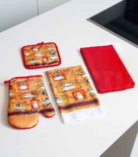 Set de Cocina 4 piezas 61252 BH TEXTIL