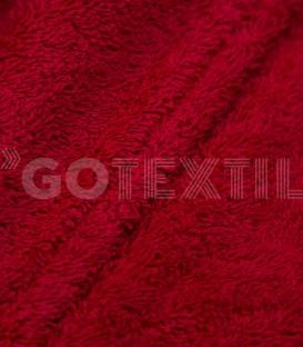 Detalle del Tejido del Albornoz Calypso Rojo Trovador