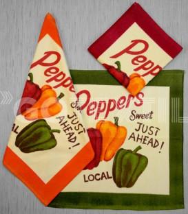 Paños de Cocina Trovador Modelo Peppers Todos los Colores