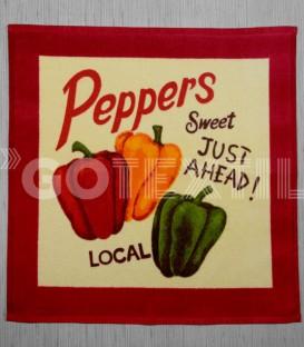 Paños de Cocina Trovador Modelo Peppers Color Rojo