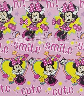 Detalle del Dibujo del Juego Sábanas Verano Disney MINNIE MOUSSE 8BS Asditex