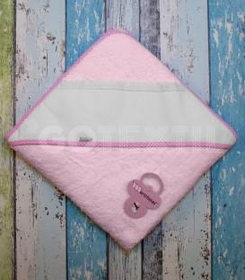 Capa Baño de bebé color Rosa. Especial para bordar