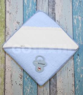 Capa Baño de bebé color Azul. Especial para bordar