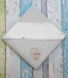 Capa Baño de bebé color Gris especial para bordar