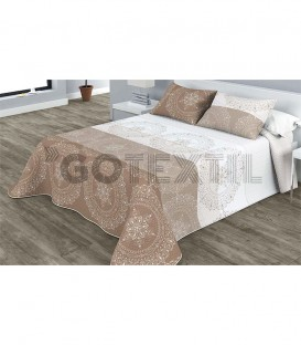 Colcha Bouti Estampada PACIFIC Color Beige. Home'secret