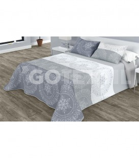 Colcha Bouti Estampada PACIFIC Color Gris. Home'secret