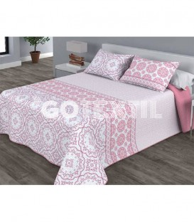 Colcha Bouti Estampada PROVENZA Color Rosa. Home'secret