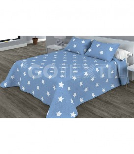 Colcha Bouti Estampada YILDA Color Azul. Home'secret