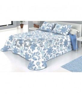 Colcha Bouti Estampada MAR Color Azul. Home'secret