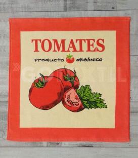 Paño de Cocina Trovador Modelo 254 TOMATES Color Rojo