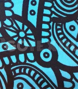 Detalle del Tejido de la Toalla Playa MANDALA 10087 Microfibra Medida: 100x180cm