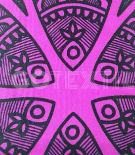 Detalle del Tejido de la Toalla Playa MANDALA 10086 Microfibra Medida: 100x180cm