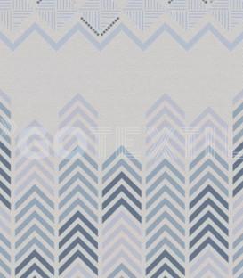 ¡ENVÍO GRATIS! Detalle del Estampado de la Colcha Bouti Estampada AGUS Color Azul. Home'secret