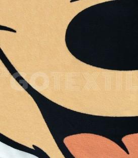 Detalle del Tejido de la Toalla playa MICKEY MOUSE Disney con Forma