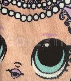Detalle del tejido de la Toalla playa infantil LOL SURPRISE con Forma de Estrella
