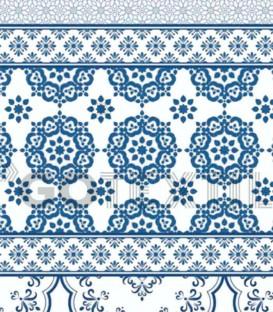 ¡ENVÍO GRATIS! Detalle del Estampado de la Colcha Bouti Estampada PROVENZA Azul. Home'secret