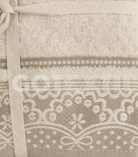 ¡ENVÍO GRATIS! Detalle del Juego de toallas 3 Piezas ENCANTO Beige Acofil