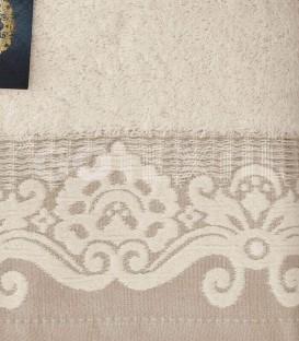¡ENVÍO GRATIS! Detalle del Juego de toallas 3 Piezas HARMONY Beige Acofil