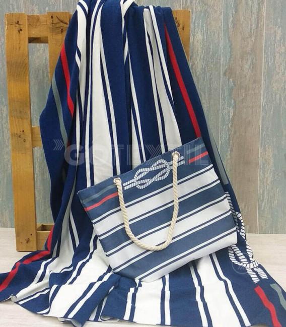 Pack Bolso Playa y Toalla XXL 180x180cm G-113