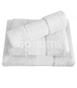 Juego de toallas TROVADOR 601 BLANCO con cenefa PANAMÁ Punto de Cruz