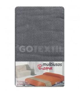Foulard Cubre Sofá ROMA GRIS Multiusos